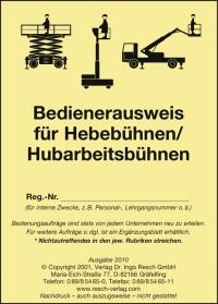 Lift-Manager Arbeitsbühnen Service - Schulung nach DGUV